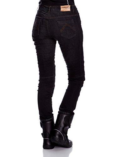 Roleff Racewear Motorradhose Kevlar Jeans für Damen, Schwarz, Größe 31 - 2