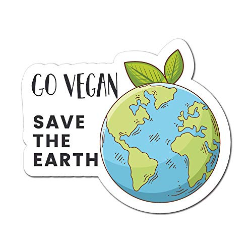 Go Vegan Save The Earth Sticker Decal