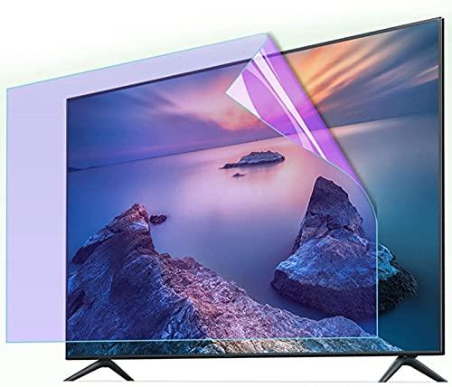HSBAIS Protector de Pantalla de TV, Anti-rasguños 32-75 Pulgadas Película Antiarañazos Filtro Anti deslumbramiento para LCD/LED/OLED & QLED 4K HDTV/Transparente,65in