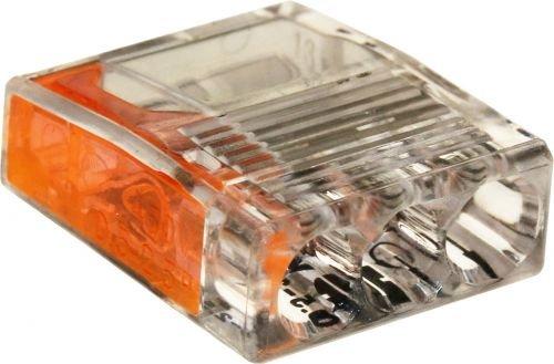 ViD® C2073 Verbindungsklemmen/Steckklemmen Ø 0,5-2,5 mm² 3-polig orange 100 Stück