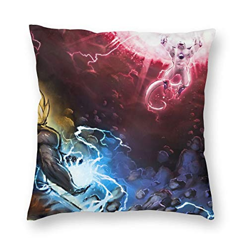 Weretlyop Dragonball Z Goku Vs - Fundas de almohada cuadradas para sofá, coche, decoración de color blanco, 16 pulgadas x 16