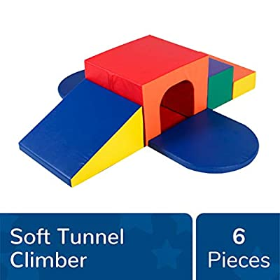 Children's Factory Soft Tunnel Climber, Indoor Play Equipment, Toddler/Baby Crawling & Climbing Toys for Playroom/Homeschool/Classroom, Primary