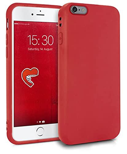 MyGadget Funda para Apple iPhone 6   6s en Silicona TPU - Carcasa Slim & Flexible - Case Resistente Antigolpes y Anti choques - Ultra Protectora - Rojo