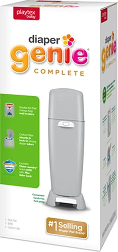 Product Image of the Playtex Diaper Genie Complete Pail with Built-In Odor Controlling Antimicrobial,...