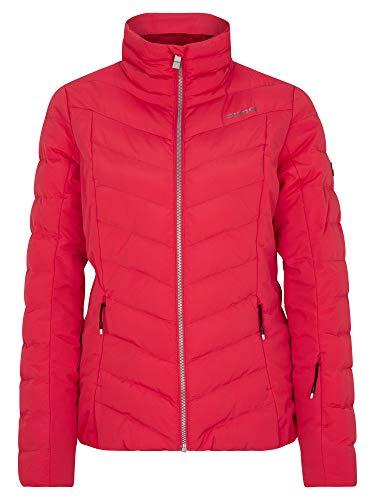 Ziener Damen Talma Ski Winter-Jacke | Warm, Atmungsaktiv, Wasserdicht, red Cherry, 38