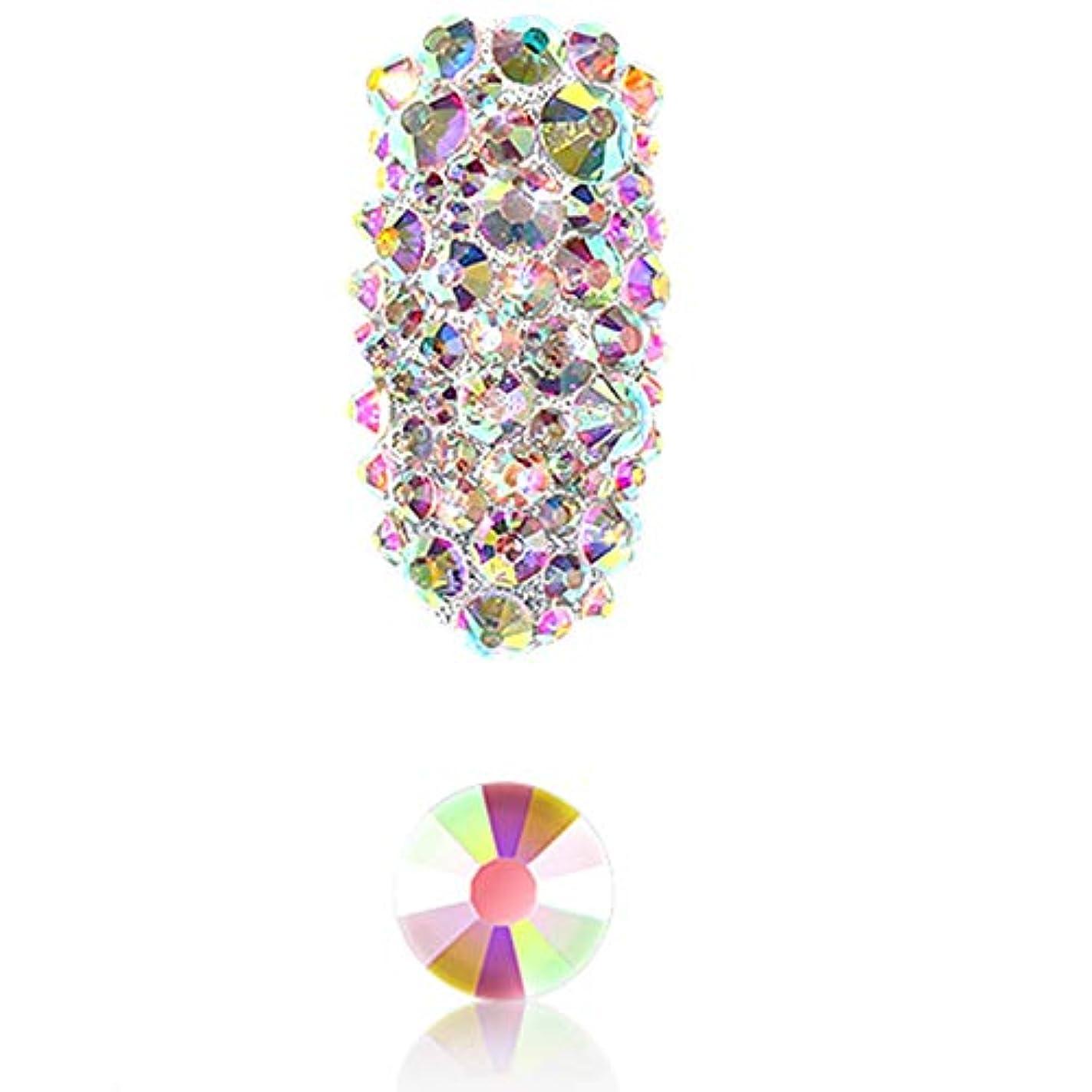 領収書想像する熟達したTOOGOO 1パックフラットバックガラスネイルラインストーン混合サイズSs4-Ss16ネイルアート装飾石シャイニー宝石マニキュアアクセサリー1#ABカラー