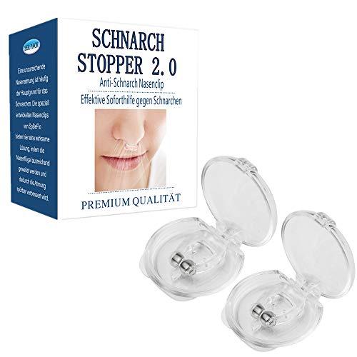 SpBeFlo Anti Schnarch Nasenclip 2 Stück, Schnarchstopper Nasenklammer gegen Schnarchen Silikon Soft Bequemes Tragen