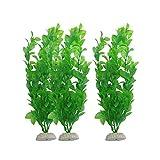 Plantas de pecera artísticas, plantas de plástico, diseño realista natural, decoración de pecera para acuarios, hogares, peceras (3 unidades)