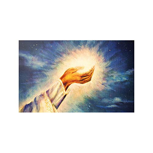 Jesús - Pintura de luz sagrada de Dios, depilación cristiana, luz cr