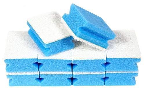 Sonty 10 Stück Putzschwamm, Schwamm Soft kratzfrei, waschbar, 9x7x4cm (blau)