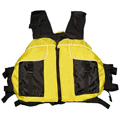 Giubbotto di Salvataggio per Adulti, Giubbotto di Salvataggio con Fibbia Regolabile Fischietto, Giubbotto di Salvataggio Riflettente Professionale per Ausili Nuoto Pesca Surf Immersioni Rafting Kayak