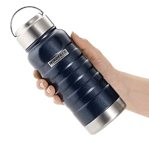ボトルジェイ ステンレス 大容量 マグ ボトル 水筒 保冷 保温性に優れた真空2重構造 広口タイプで洗いやすい シンプル 持ちやすいデザインで使いやすい すぐ飲める直飲みタイプで便利 (ネイビー, 約1リットル)