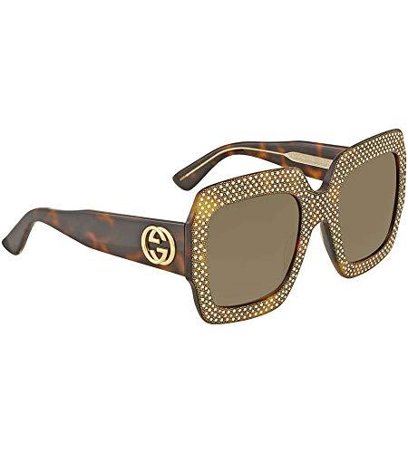 Gucci Damen GG0048S 002 Sonnenbrille, Braun (Avana/Brown), 54