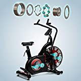 AsVIVAF1 Air-Bike Pro Heimtrainer und Ergometer ein Pro Turbinen Trainer mit Riemenantrieb inkl. Fitnesscomputer mit 7 Trainingsprogrammen sowie Herzfrequenzmesser & integrierter Pulsempfänger
