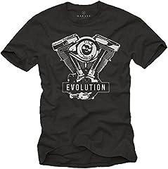 MAKAYA Ropa Moto Camiseta Motera Evolucion para Hombre