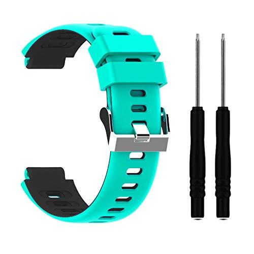 Sweo Correa de reloj de pulsera, correa de silicona de dos colores para reloj Garmin Forerunner 235/220/230