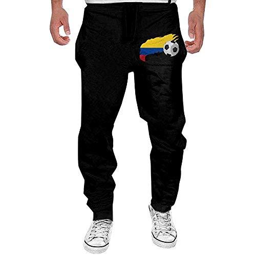 Emild Pallone da Calcio da Uomo con Pantaloni della Tuta Bandiera Colombia Pantaloni Sportivi Leggeri per la Corsa all'aperto