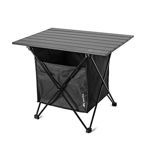 Fesjoy Mesa de picnic plegable al aire libre con bolsa de asiento para camping, escritorio con vajilla impermeable, bolsa de almacenamiento de ropa, camping patio trasero