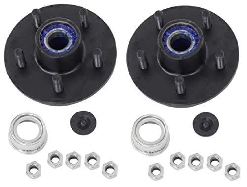 2-Pack Trailer Wheel Hub Pre-Greased Complete Kit Steel 5 Lug (4.5) 84 3500lb