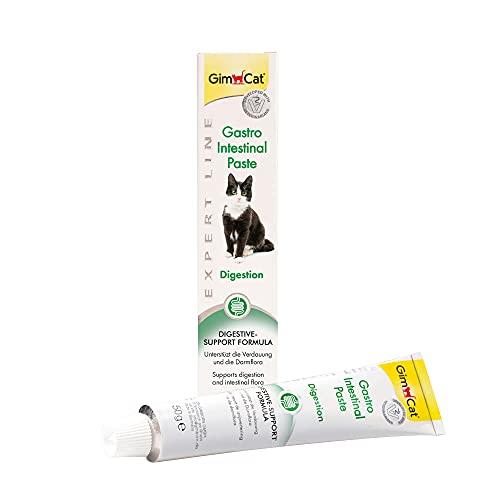 GimCat EXPERT LINE Gastro Intestinal Paste - Funktionaler Katzensnack unterstützt Verdauung und Darmflora - 1 Tube (1 x 50 g)