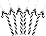 Christmas Concepts Pack of 6 - 13cm Glitter Candy Cane Christmas Tree Decorations (Black & White)