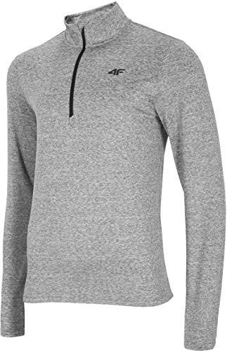 4F Herren Funktions Shirt Houston Camiseta Funcional, Hombre, Color Gris, Medium