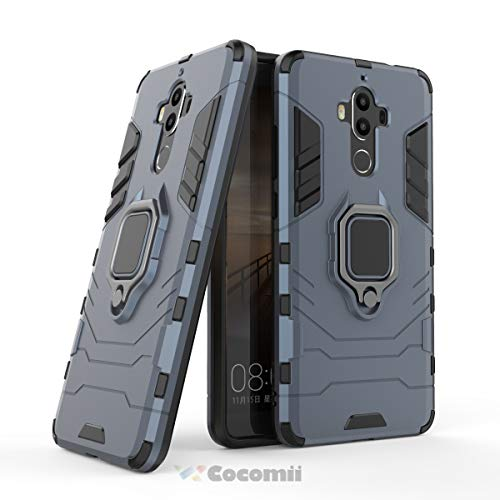 Cocomii Black Panther Ring Huawei Mate 9 Case, Slim Thin Matte Vertical & Horizontal Kickstand Ring Grip Reinforced Drop Protection Fashion Phone Case Bumper Cover for Huawei Mate 9 (Black)