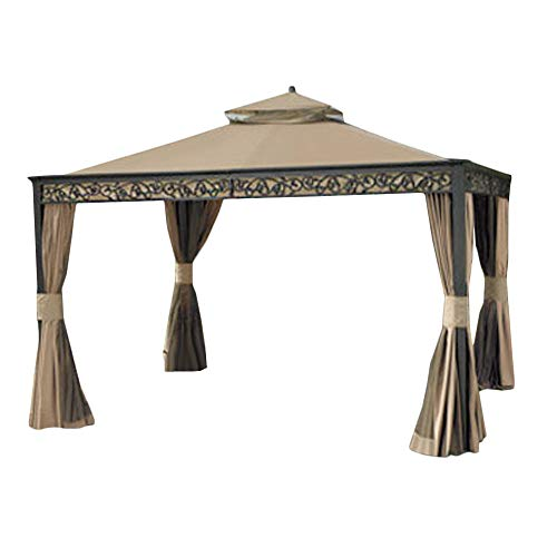 Garden Winds Replacement Canopy for Gazebo Model L-GZ399PAL-1 (Will Not Fit Any Other Model) – Riplock 350 Performance Fabric