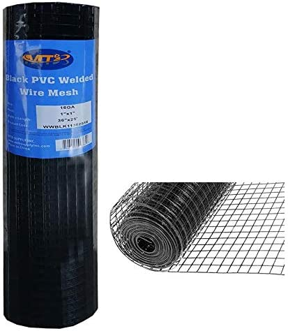 MTB Black PVC Bargain Coated Welded Wire In Garden Economy Fence Super special price 36 Mesh