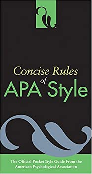 Paperback Concise Rules Of APA Style (Concise Rules of the American Psychological Association (APA) Style) Book