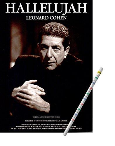 Leonard Cohen Hallelujah [Noten/Sheet Music] mit praktischem Bleistift