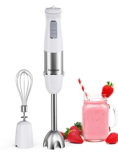 Homgeek 1000W 2-in-1 HAT-9630B Hand Blender with Whisk,Stick...