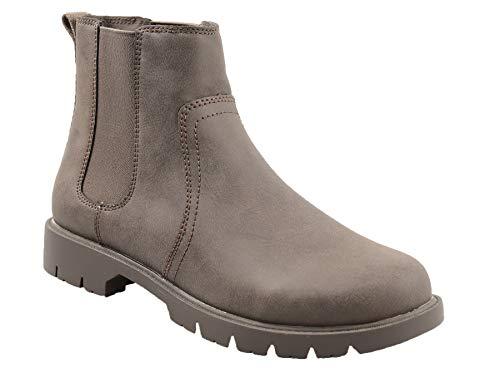 Amazon Essentials Women's Ankle Boot, Brown, 8 Medium US