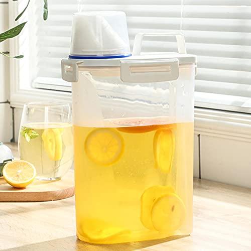 sfadf Dispensador De Bebidas Dispensador De Agua Dispensador De Agua Nevera Botella De Agua Fría de 2,5 litros Cubo de Jugo Cubo de Agua fría Tetera de Frutas Cubo de limón Botella de Agua