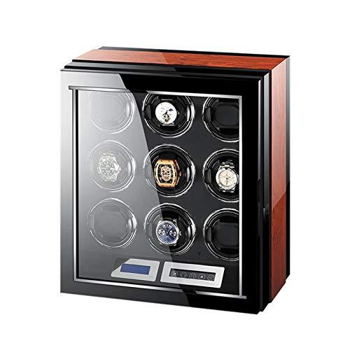 LJP Devanadera de reloj automático con motor silencioso 5 ajustes de modo de rotación Smart Touch adecuado 9 devanadera de reloj para hombres y mujeres