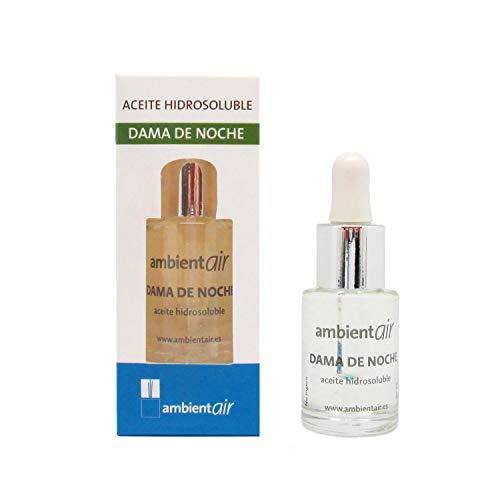 Ambientair. Aceite perfumado hidrosoluble 15ml. Aceite hidrosoluble Dama de Noche para humidificador de ultrasonidos. Perfume de Dama de Noche para ambientador de Vapor de Agua. Aceite sin Alcohol