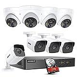 ANNKE 5MP 8CH DVR Kit de Surveillance H.265 Pro+ avec HDD 2TB et 8 Caméra dôme et Bullet 5MP PIR de Vidéosurveillance Sécurité Intérieur Vision Nocturne 100ft/30m