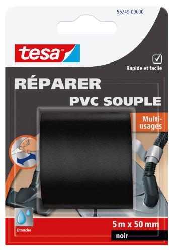 Tesa 56249-00000-00 - Cinta adhesiva reparadora multiusos (PVC flexible, 5 m x 50 mm), color negro