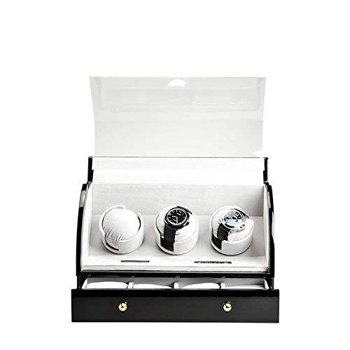 GUOCAO Shaker Caja de reloj mecánico automático, giratorio de almacenamiento, control avanzado y motor silencioso, pantalla táctil digital LCD, 4 almacenamiento de joyas, pantalla B