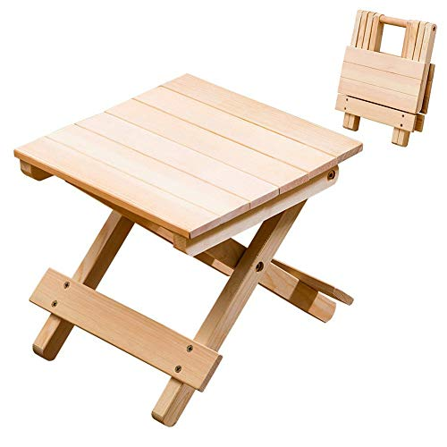 Dequate Klapphocker Holz Faltbar - Hocker Klappbar Aus Massivem Holz, Frei Installierbarer, Tragbare Fuß-hocker Holzhocker Klein, Picknickhocker, Außenhocker, Angelhocker