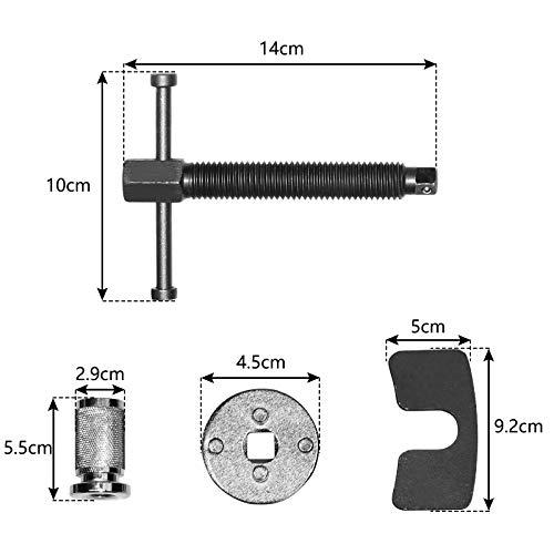 UISEBRT Bremskolbenrücksteller Bremskolbenrücksetzer Universal - Bremskolben KFZ Werkzeug für Verschiedene Fahrzeugtypen