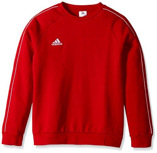 adidas Unisex Youth Soccer Core18 Sweatshirt, Unisex-Kinder Jungen Mädchen, Power Rot/Weiß, Large