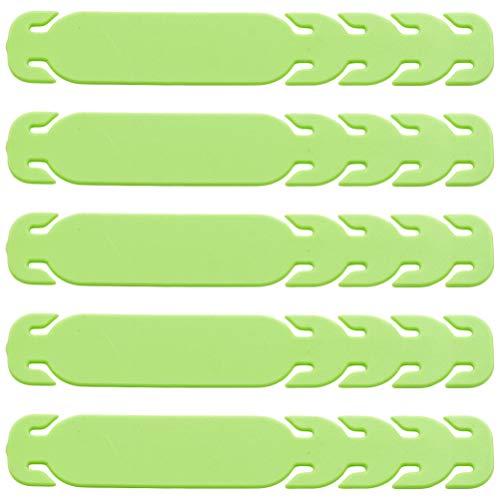 EXCEART 10 Pcs Couverture Du Visage Oreille Cordon Extension Boucle Oreille Poignée Crochet Visage Bouclier Rester Boucle Vert