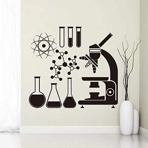 ganlanshu Art Design Dekoration Mikroskop und Reagenzglas Wandaufkleber entfernbare Haus Dekoration kreative schöne Aufkleber 58cmX63cm