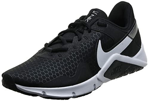 Nike Legend Essential 2, Zapatillas Hombre, Black/White-Metallic Silver, 44.5 EU