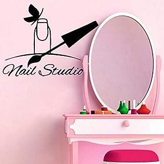 wZUN Salón de uñas Pegatinas de Pared calcomanías de Esmalte de uñas Nail Studio Pegatinas de Vinilo calcomanías de Papel ...