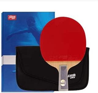 HENGTONGWANDA Table Tennis Racket, Horizontal Shot, Sky Blue, Double-Sided Anti-Adhesive 7-Layer Bottom Plate, Pen-Hold, Set