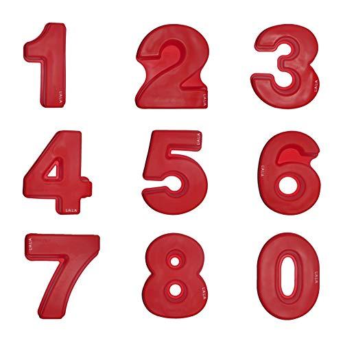 LIA-LIA Backform Kuchenform Silikon Große Zahl XXL 24 cm (Kompletter Satz)