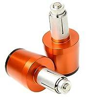 """ハンドルバー ヤマハMT-01 MT-07 FZ1 FZ6 R6 R3 FAZER FZ8 FZ6R XJ6 XT Z750Rオートバイ7/8""""22mmハンドルエンドキャップ オートバイのハンドル (色 : Orange)"""