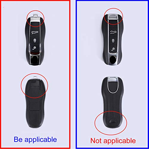 CHEYA Car Key Case Keyshell Covers for Porsche Panamera 2010-2019 Cayenne 2011-2020 911 2013-2020 Macan 2014-2019 Boxster 2013-2016 Cayman 2013-2016 718 2016-2019 (No.4 Painting, Style A)